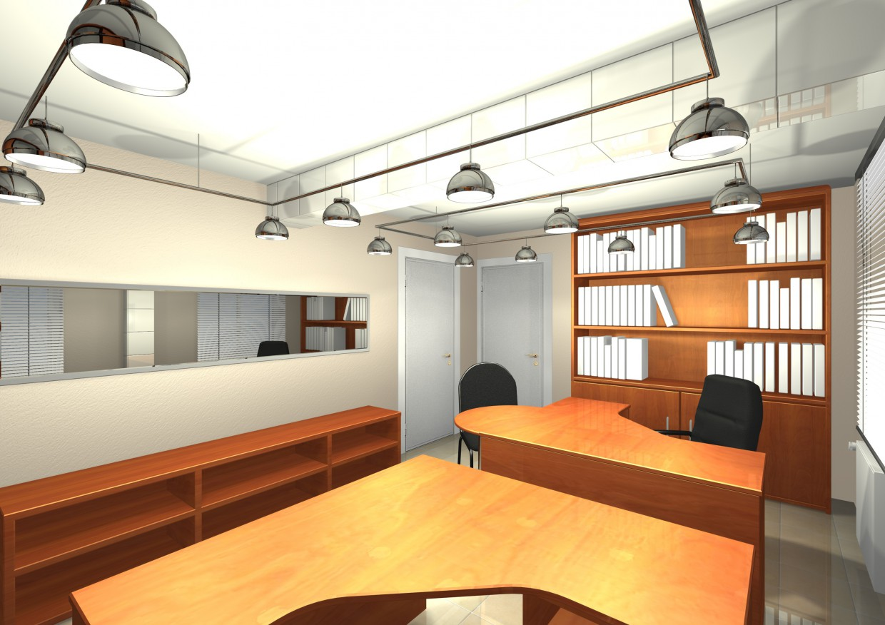 offices in 3d max mental ray image