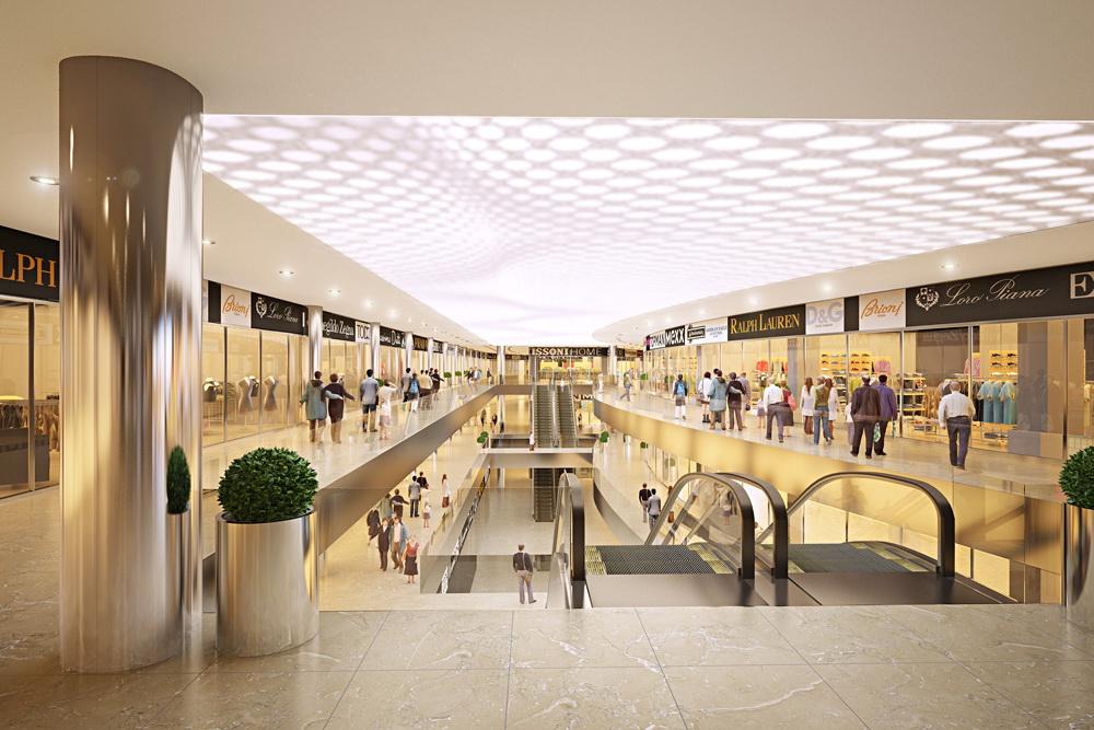 Retail area in 3d max corona render image