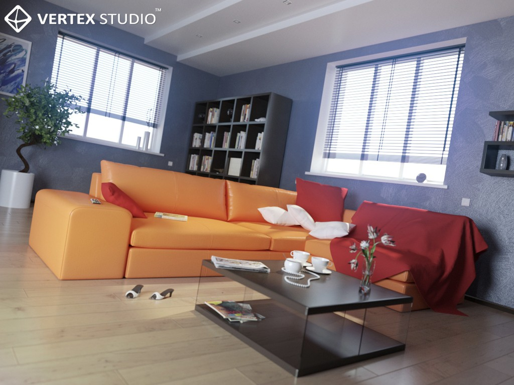 3d visualization of the project in the Lonely Room 3d max, render Other of homerender