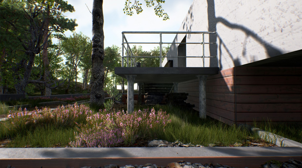The exterior of the unreal engine 4 in 3d max Other image