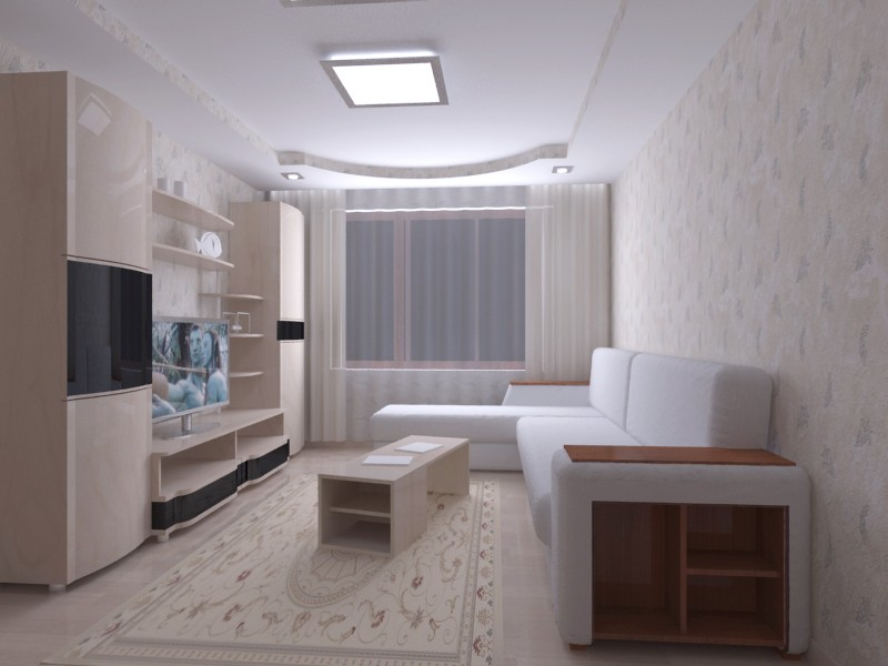 Apartment in 'Shahta' in 3d max vray image
