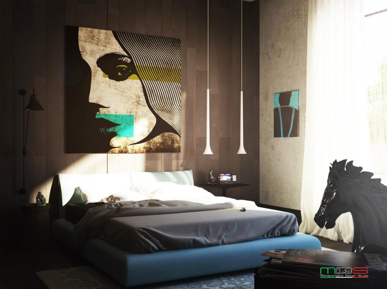 Гостьова спальня в 3d max vray зображення