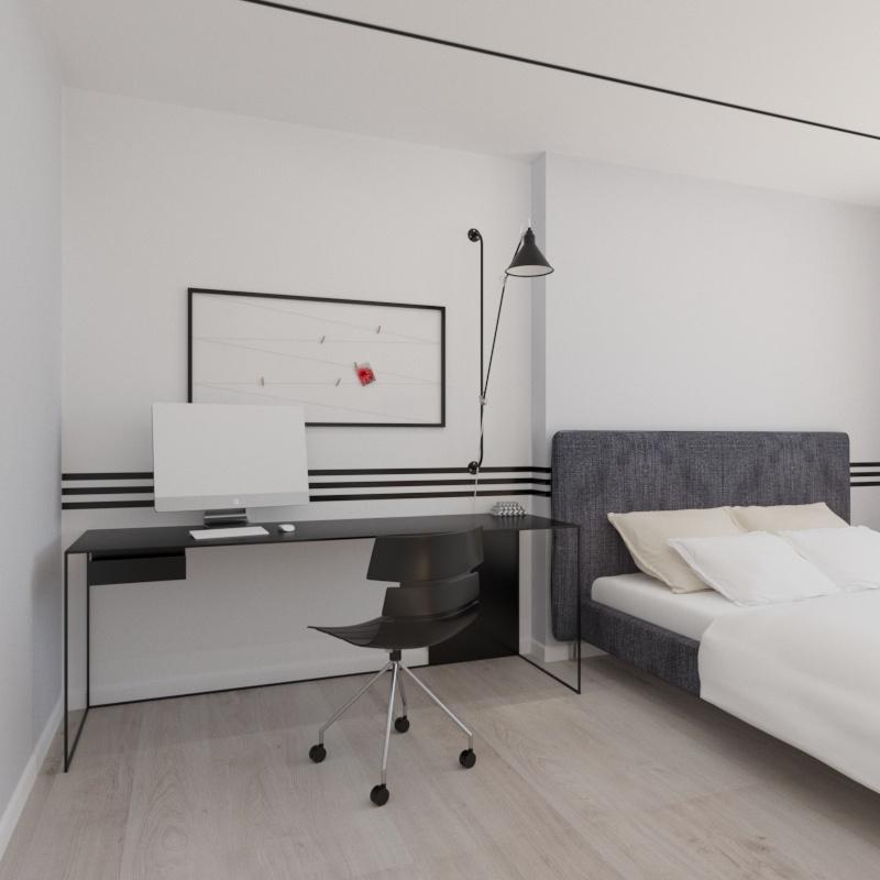 adidas kid's bedroom in 3d max corona render image