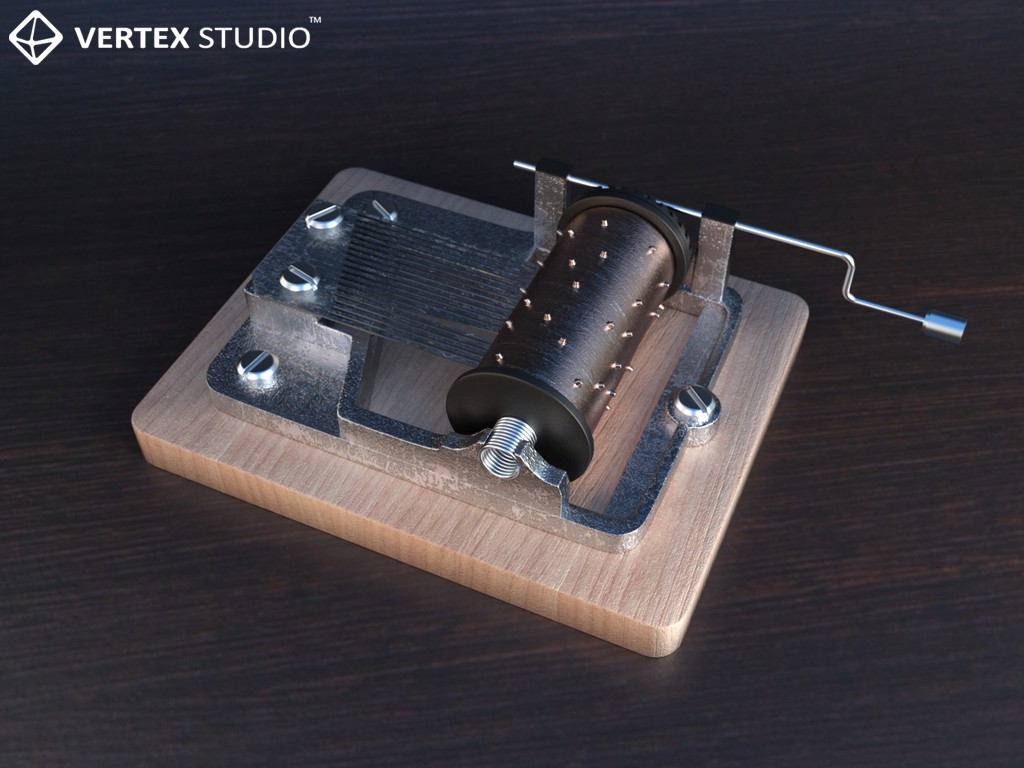 Music box in 3d max Other immagine