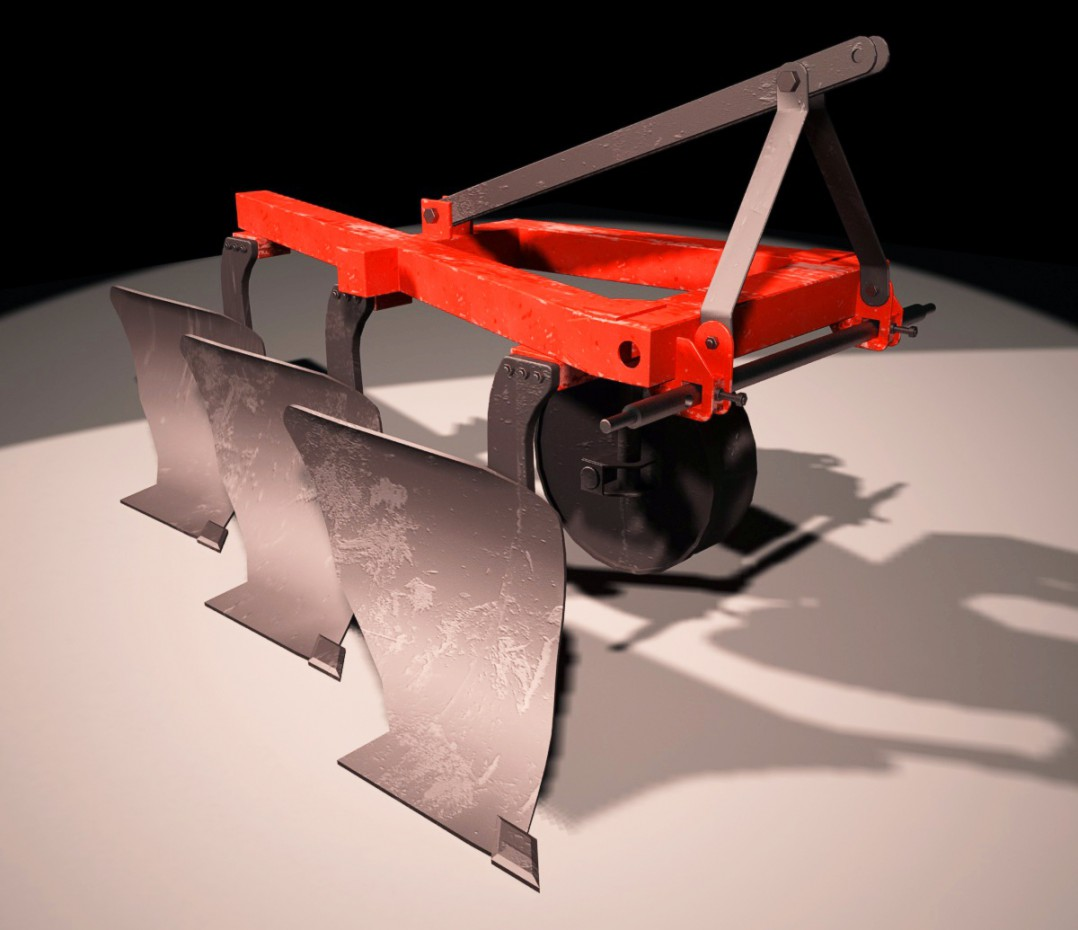 Plow in 3d max vray 2.5 image