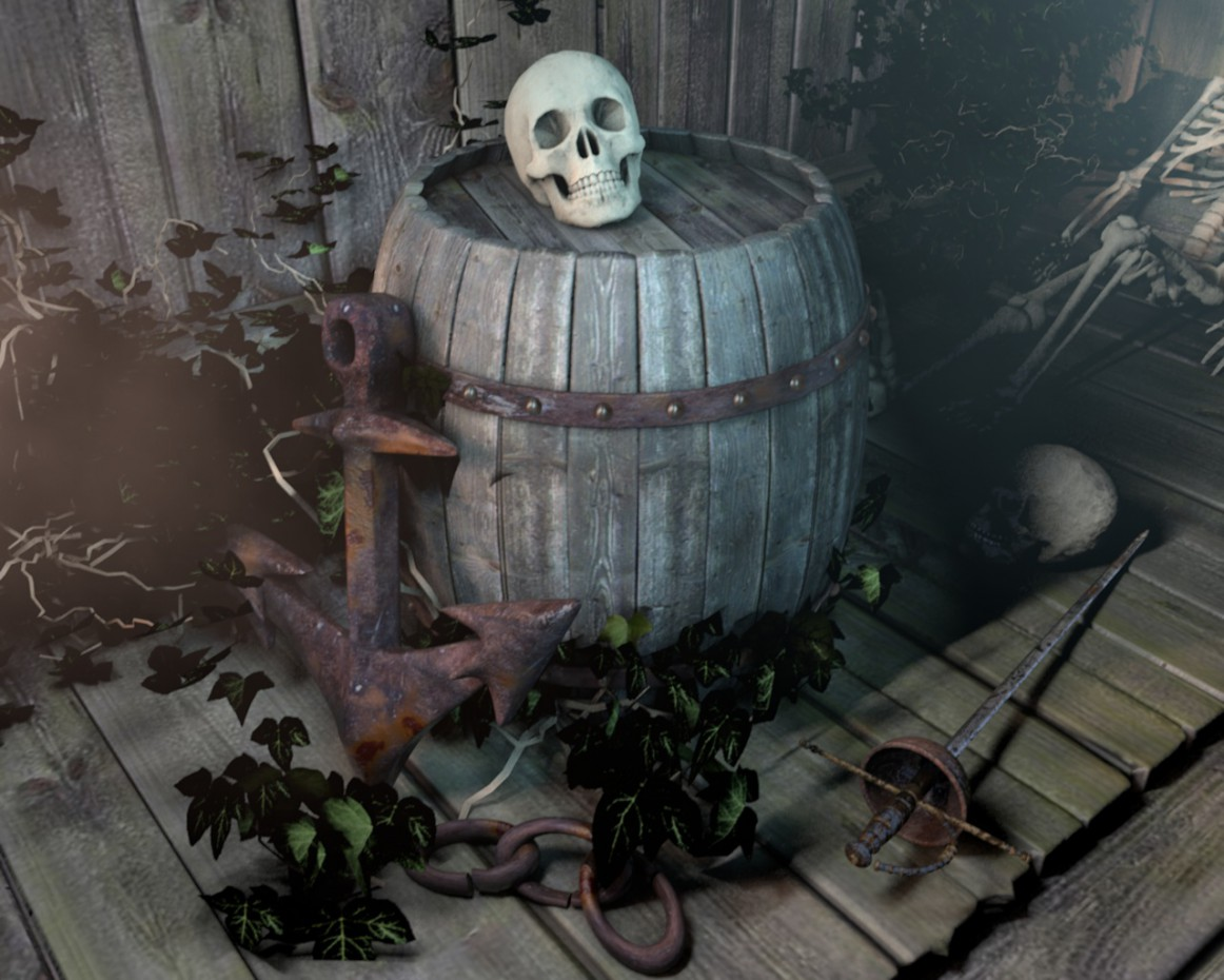 The pirate's hold in Cinema 4d Other image