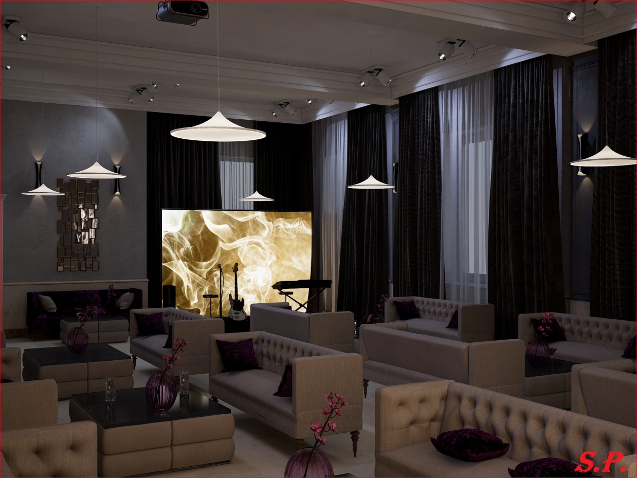 Smoke Lounge in 3d max vray image