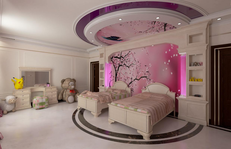 children's bedroom option number_1 in Maya vray 3.0 image
