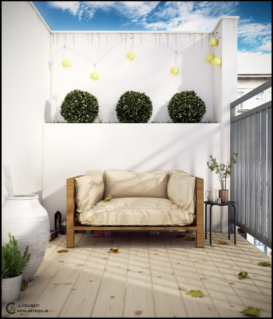 My balcony in 3d max vray image