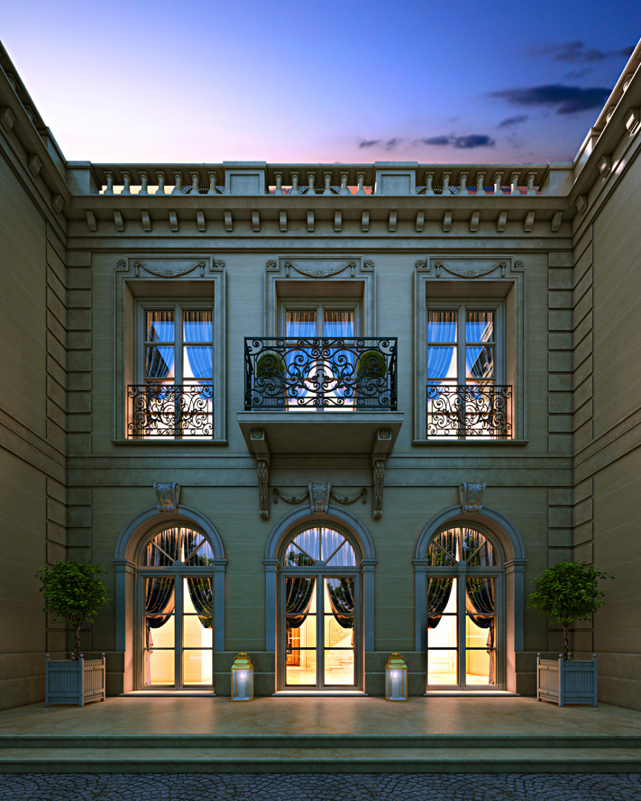 House of the aristocrat in 3d max corona render image