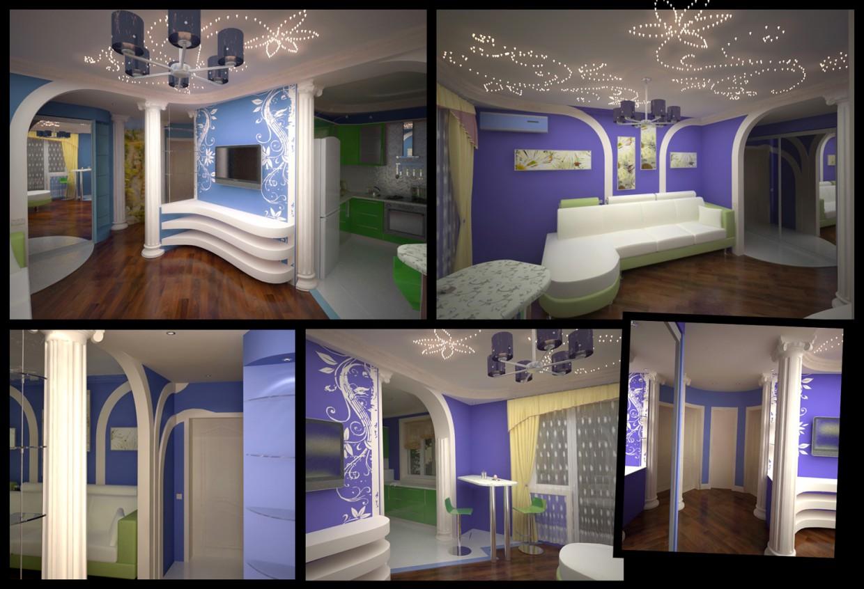 Интерьер квартиры в 3d max vray изображение