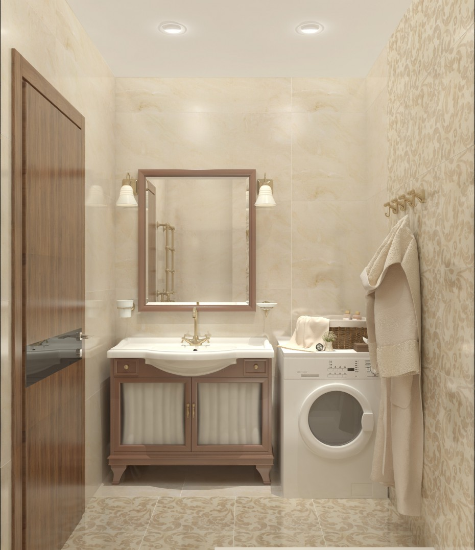 Water closet in 3d max vray image