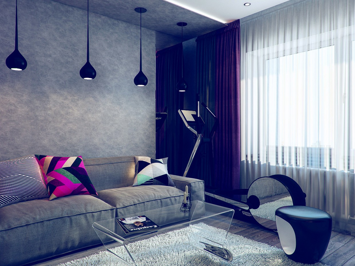 Apartment in 3d max vray image