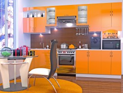 Orange kitchen, in the new year