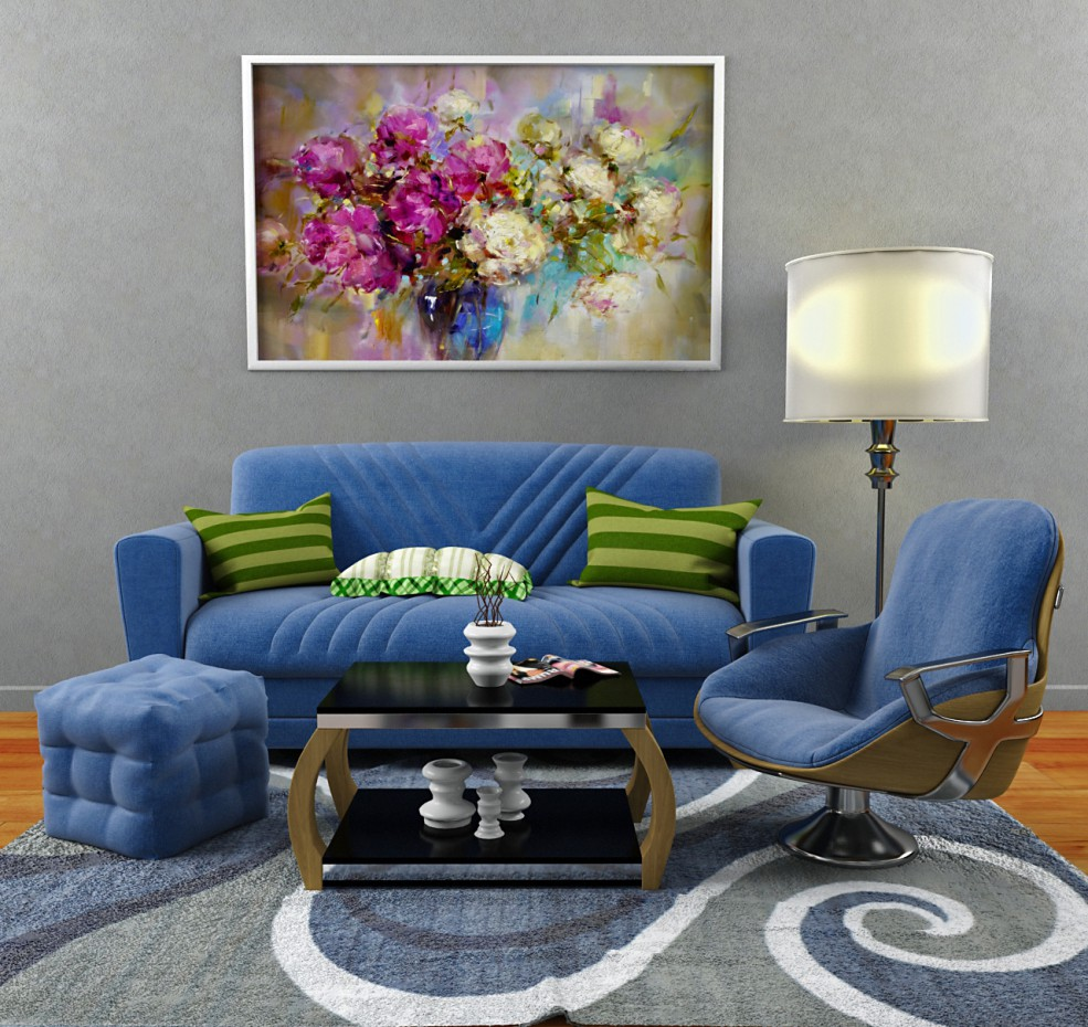 Set-Sofa, Chair, Table, Carpet. in 3d max vray 3.0 image