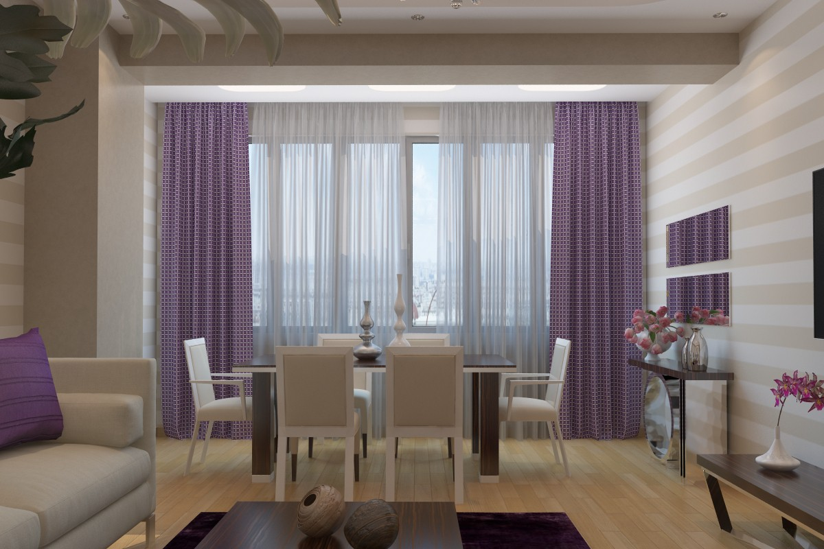 3d visualization of the project in the Living room 3d max, render vray of orhan