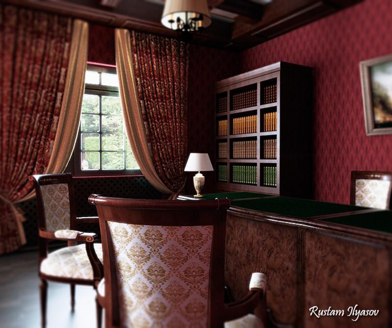 Sala de escritório em 3d max vray imagem