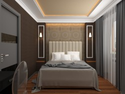 Bedroom in the style of Art Deco