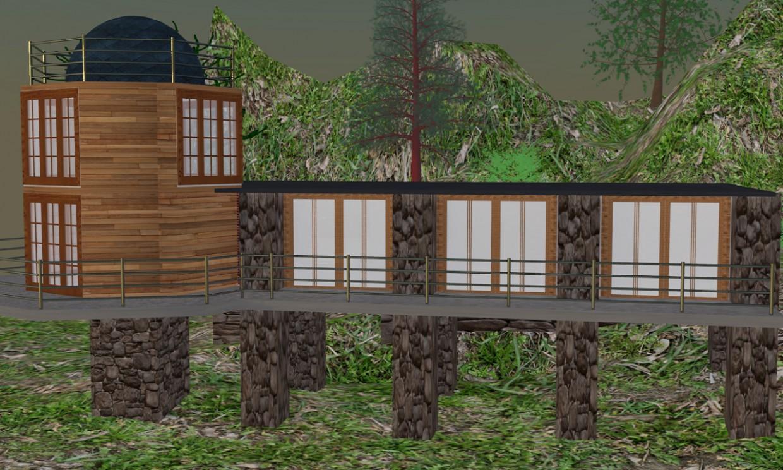 3d візуалізація проекту Будинок на схилі в 3d max, рендер vray від d1rewolf