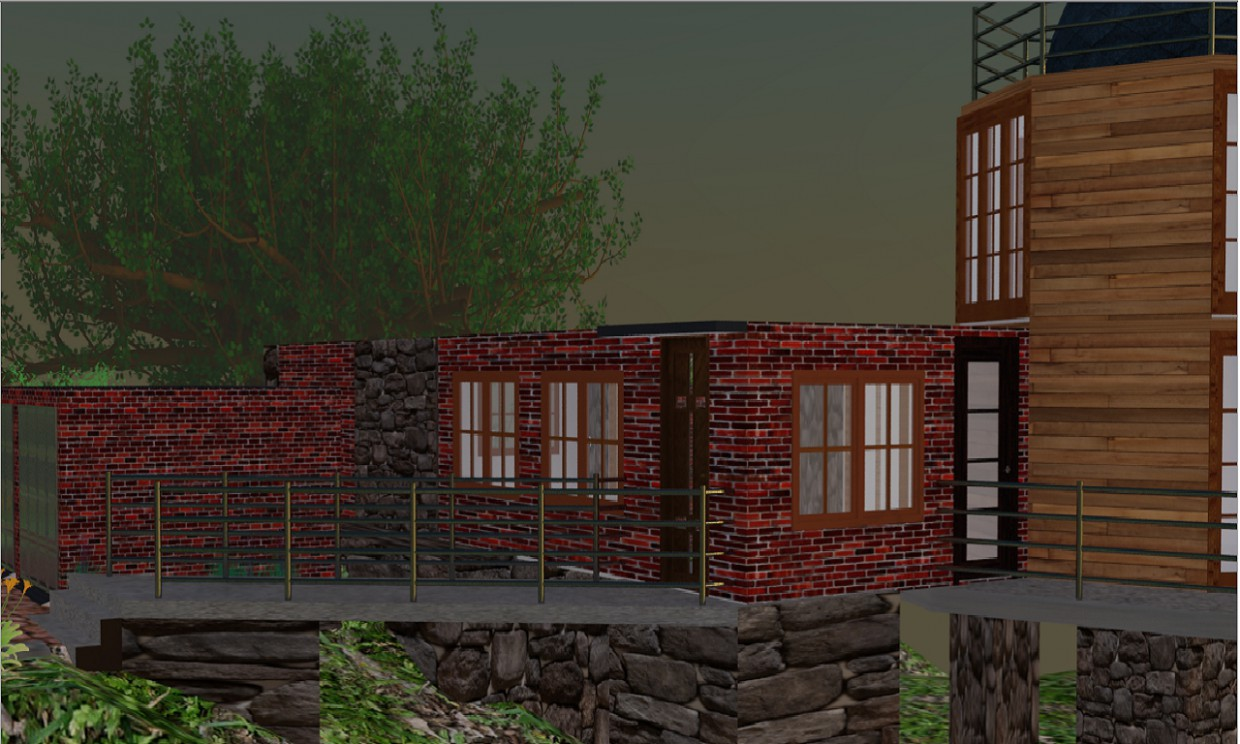 The House on the slope  in  3d max   vray  image