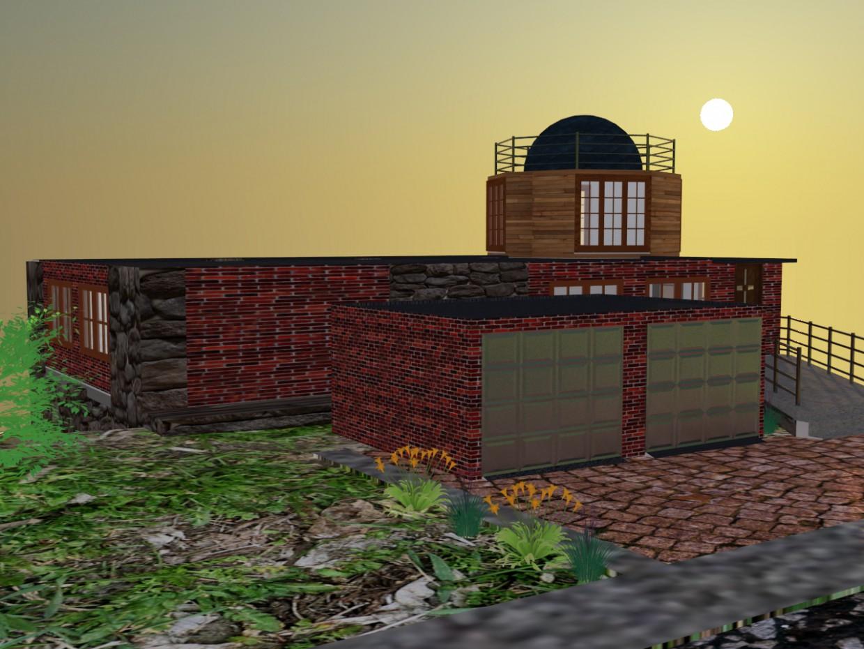 imagen de La casa de la cuesta en 3d max vray