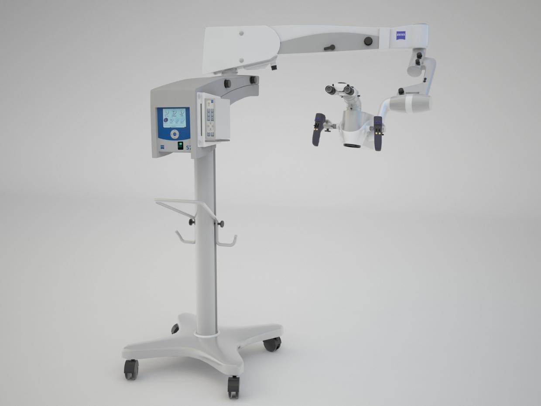 Dental microscope in 3d max vray 2.5 image