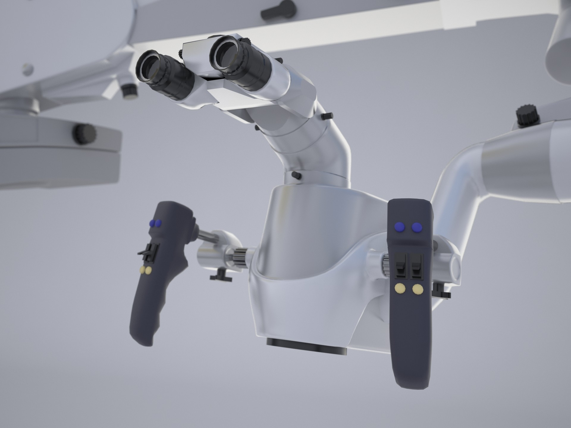Dental microscope in 3d max vray 2.5 image