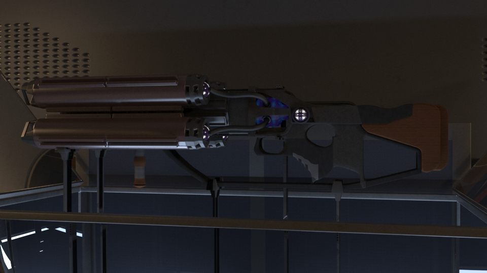 Lowpoly game gun concept in 3d max vray 3.0 image