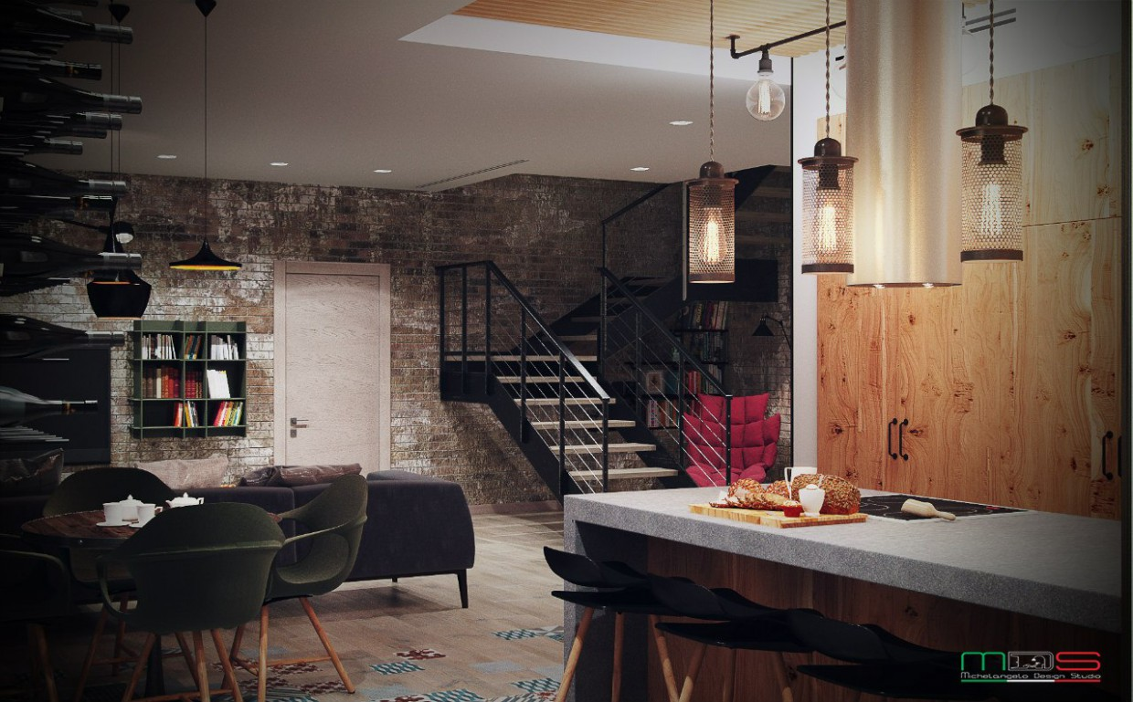 Townhouse in 3d max vray image