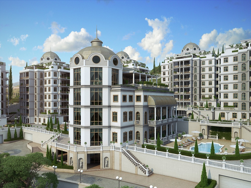 "3d visualization of the project in the Residential complex ""Diplomat"" 3d max, render corona render of Anastasia*"