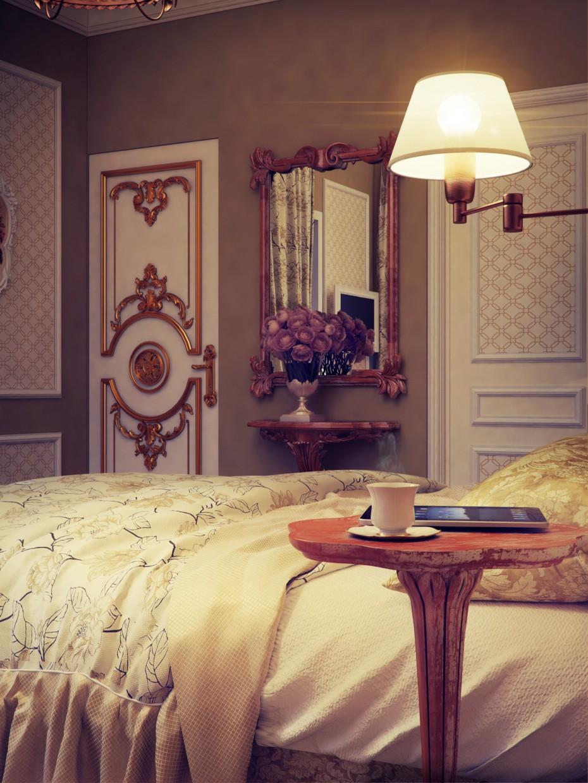 гостевая спальня классика в 3d max vray изображение