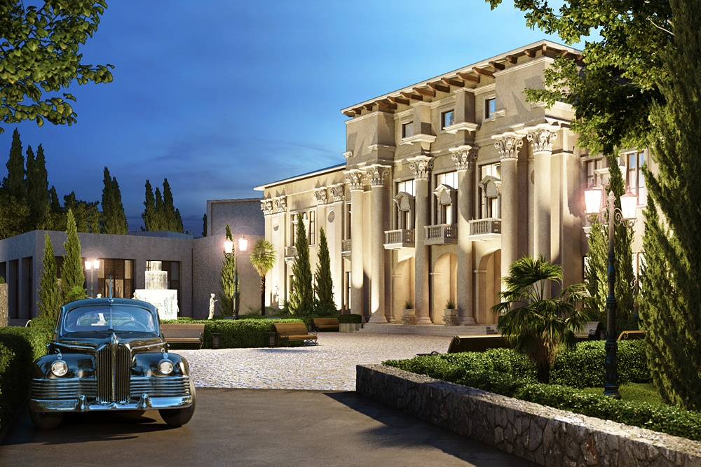"3d visualization of the project in the Resort complex ""Camellia"" in Sochi 3d max, render corona render of Anastasia*"