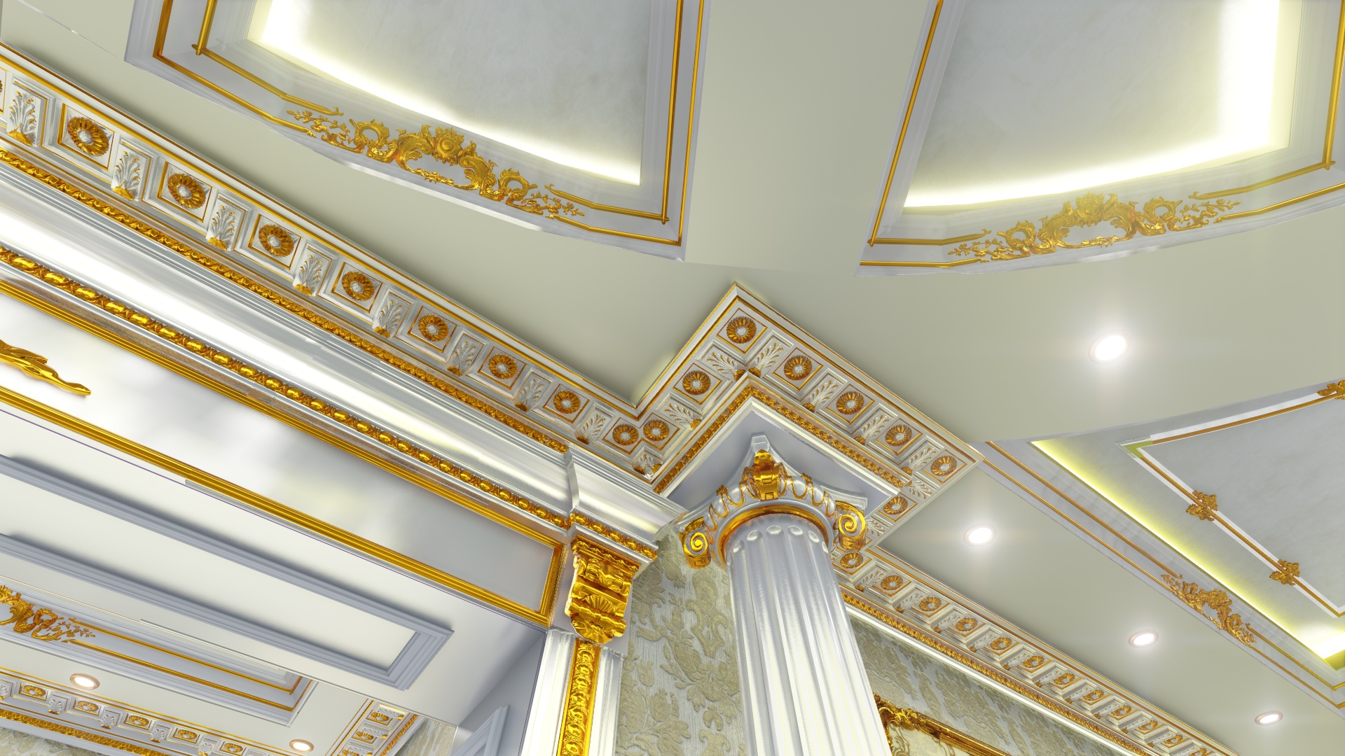 3D Visualization. Interior design of the cottage. Central Hall. (Video attached). in Cinema 4d Other image