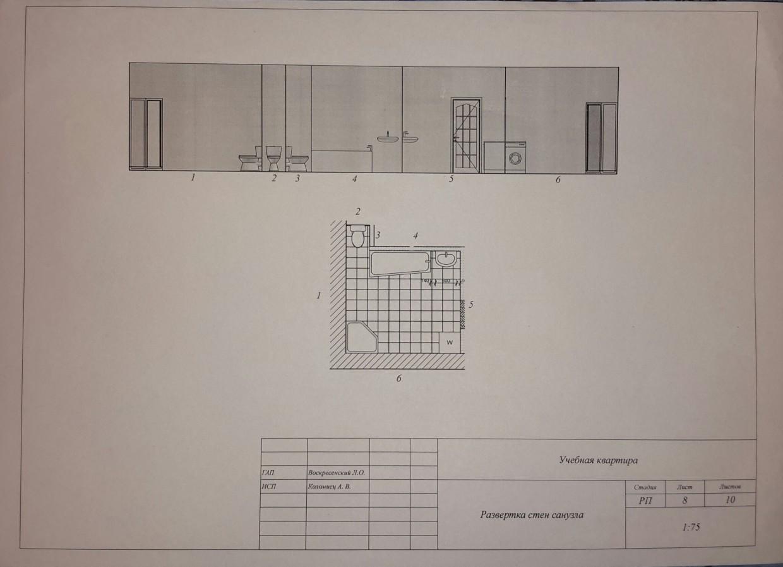 Рабочие чертежи по учебной квартире в Другое Other изображение