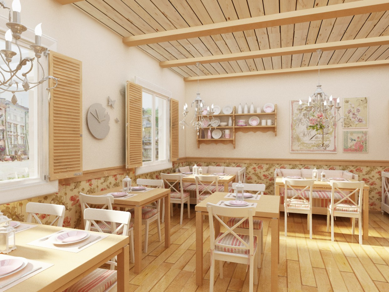 3d visualization of the project in the Confectionery 3d max, render vray of Lanika