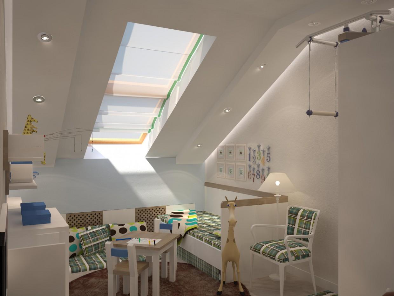 imagen de Habitación infantil para un niño en 3d max vray