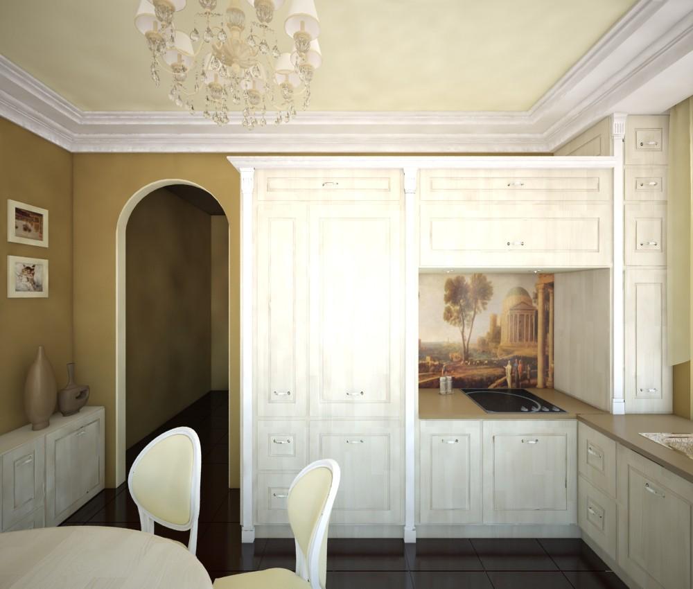 кухня класика в 3d max vray зображення