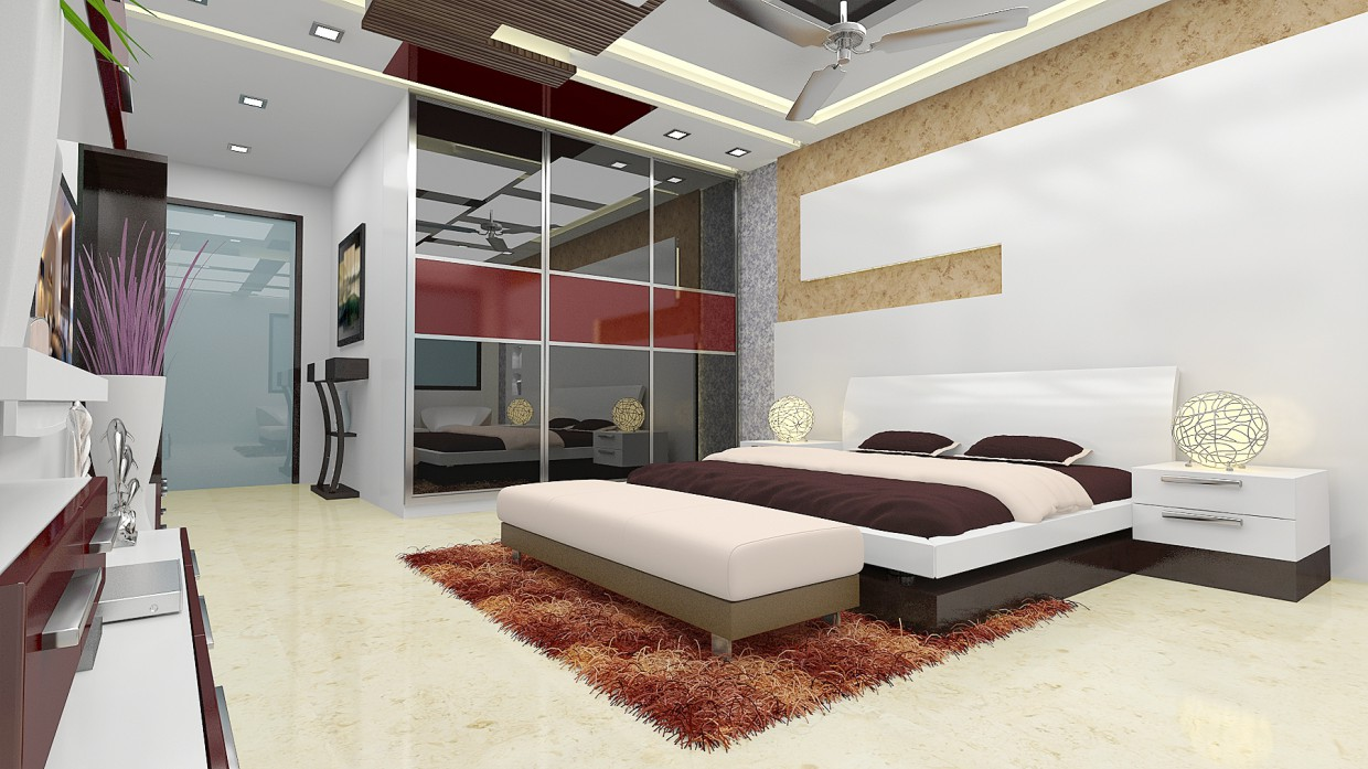 Interior work in 3d max vray image