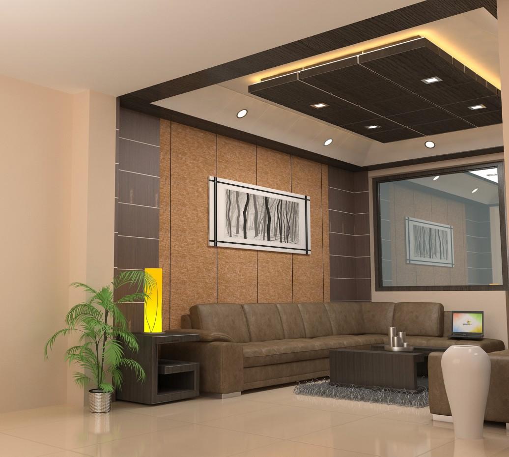 imagen de trabajo interior en 3d max vray