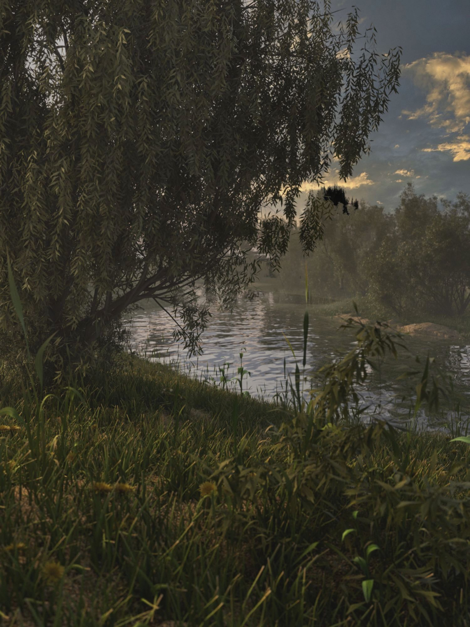 ON THE SUNSET in 3d max corona render image