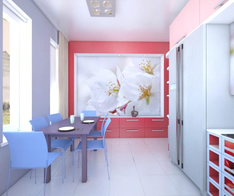 кухня з вишнями в 3d max vray зображення