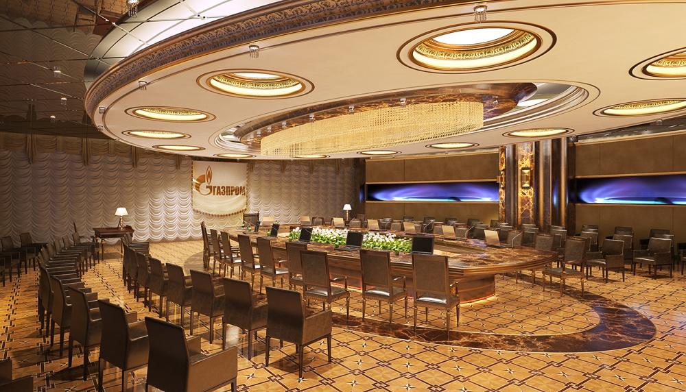 imagen de La empresa de negociación de Gazprom en 3d max corona render