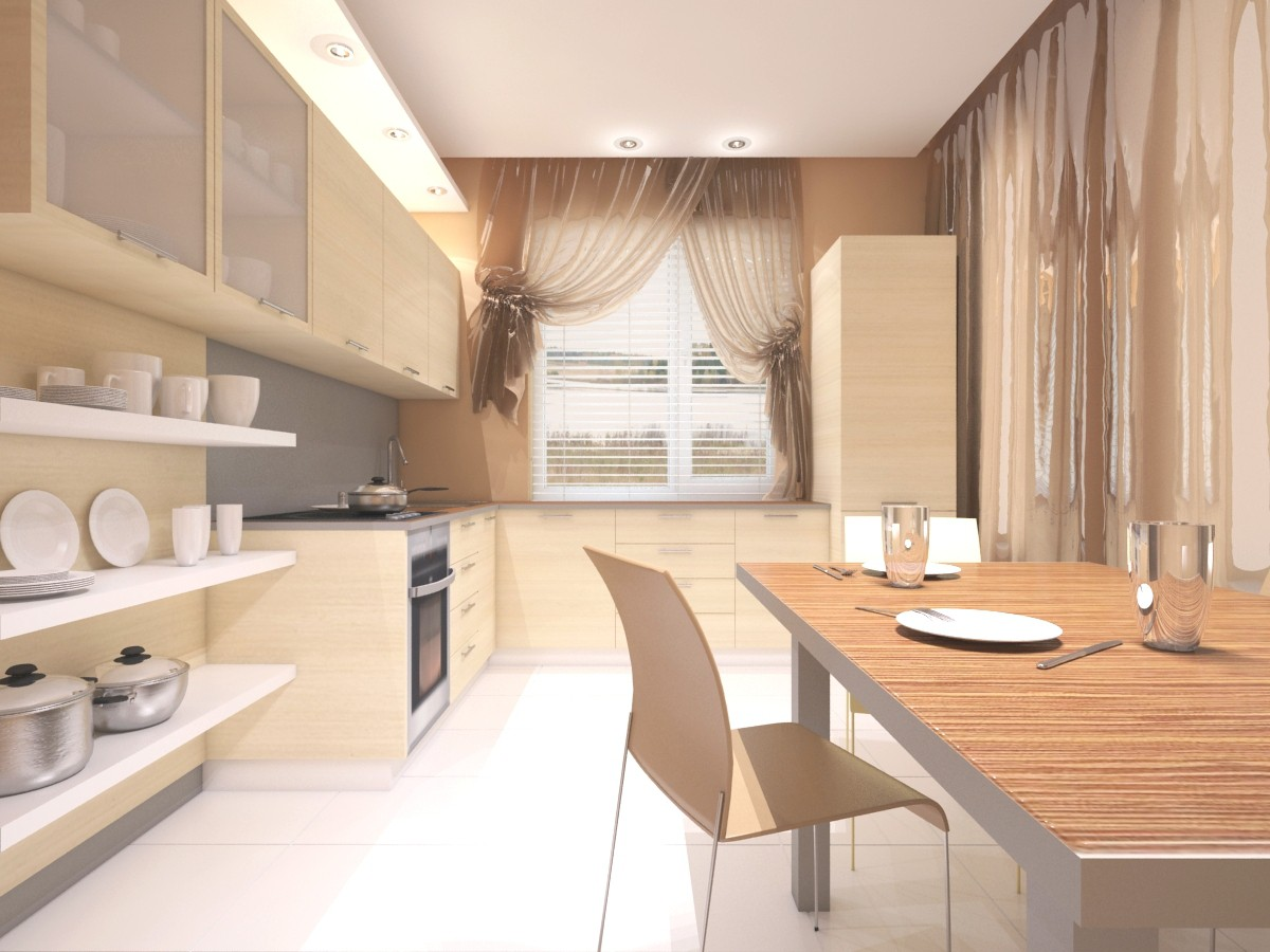 kitchen, 3rd variant in 3d max vray image