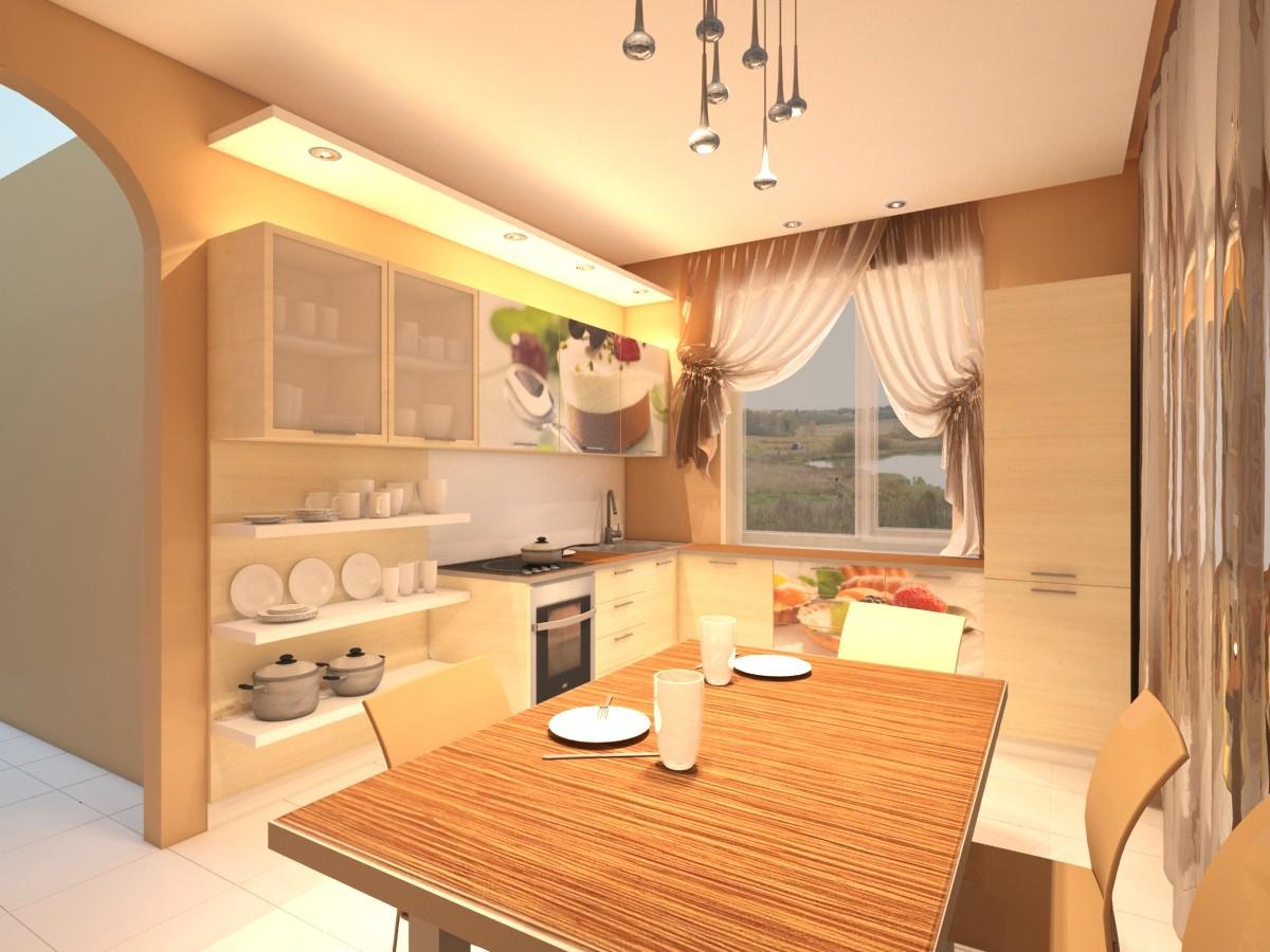 кухня 3-й варіант в 3d max vray зображення