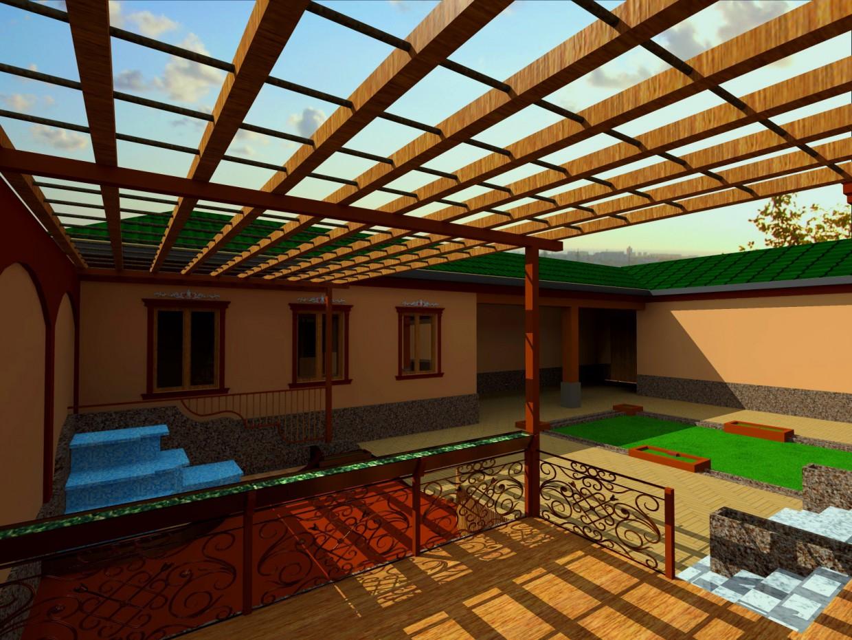 Cottage (Tajik Steele) in 3d max vray 2.5 image