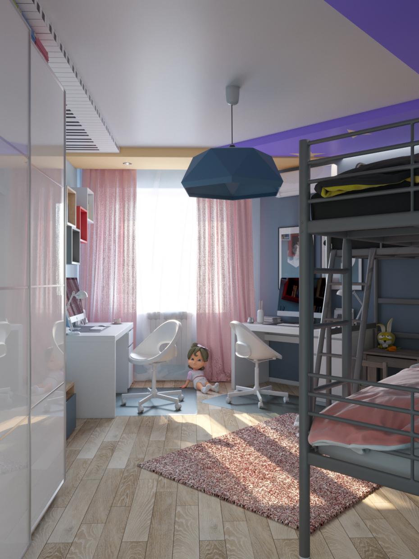 आइकिया की आयु 3d max corona render में प्रस्तुत छवि