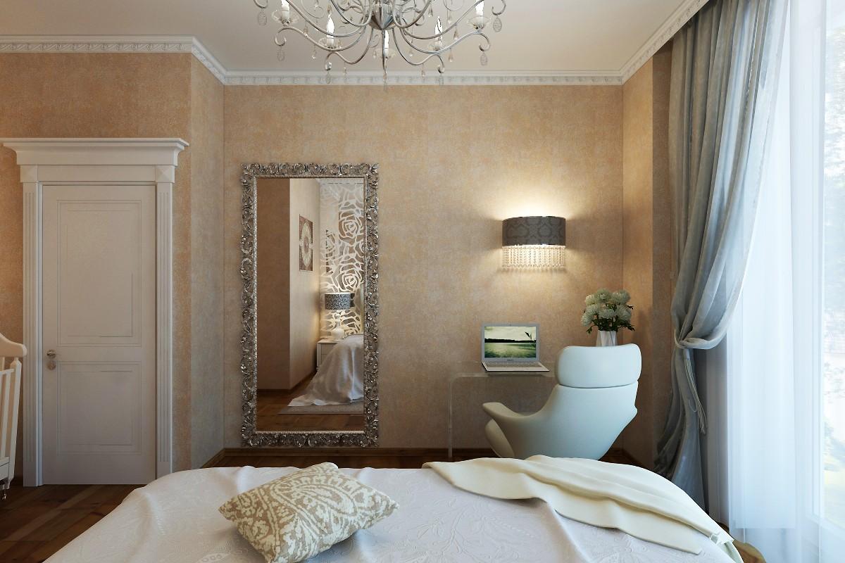 Спальня Ар-деко в 3d max vray изображение