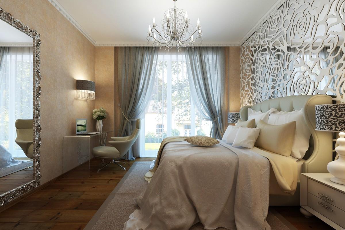 Art Deco Bedroom in 3d max vray image