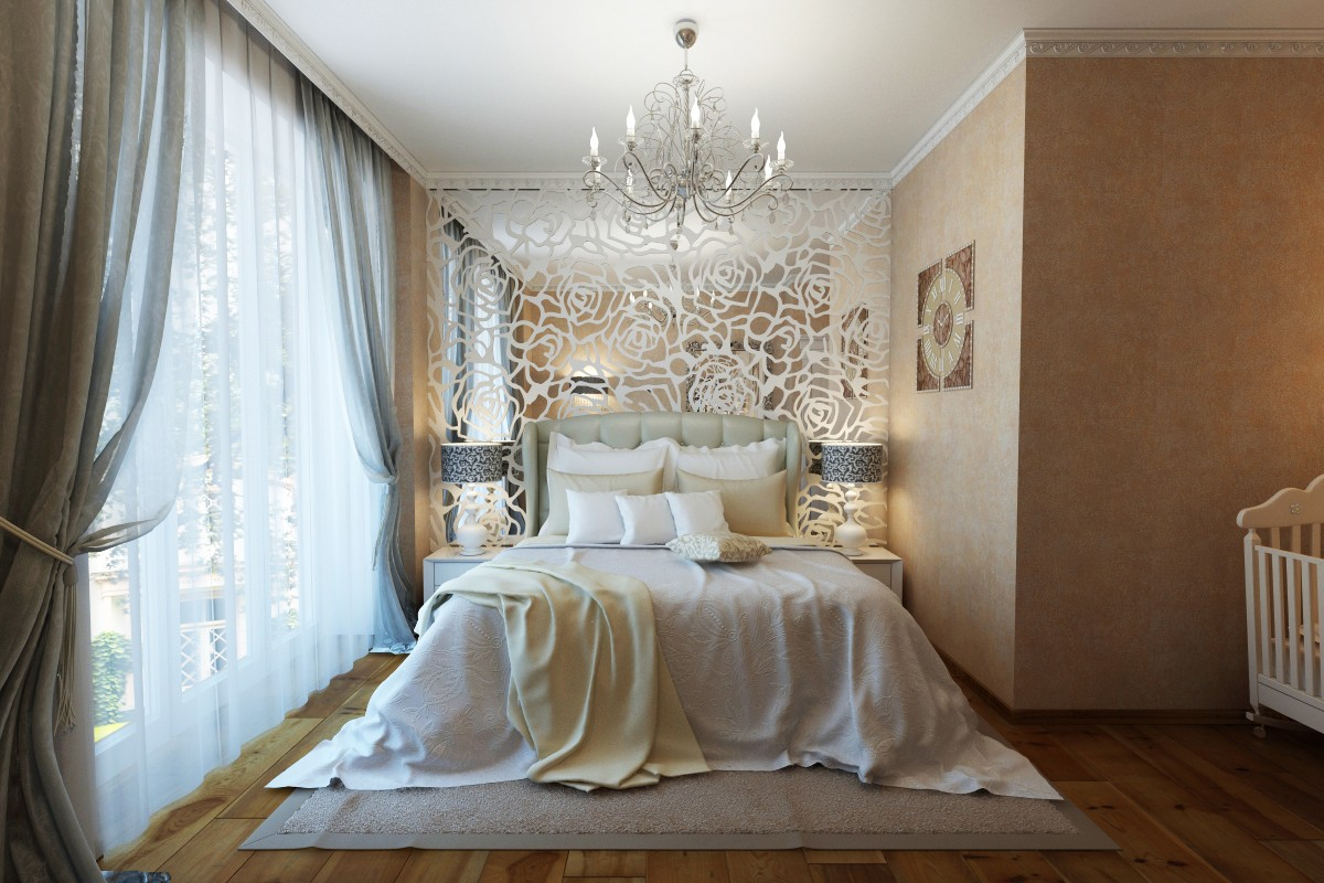 Art deco bedroom design and visualization Art deco bedroom ideas
