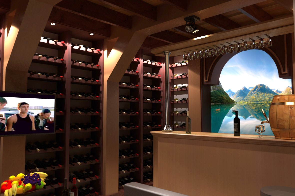 3d visualization of the project in the Wine Cellar 3d max, render vray 2.0 of Nurullokhon